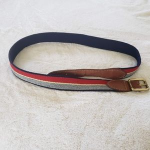 EUC Cole haan 34 inch leather belt with brass